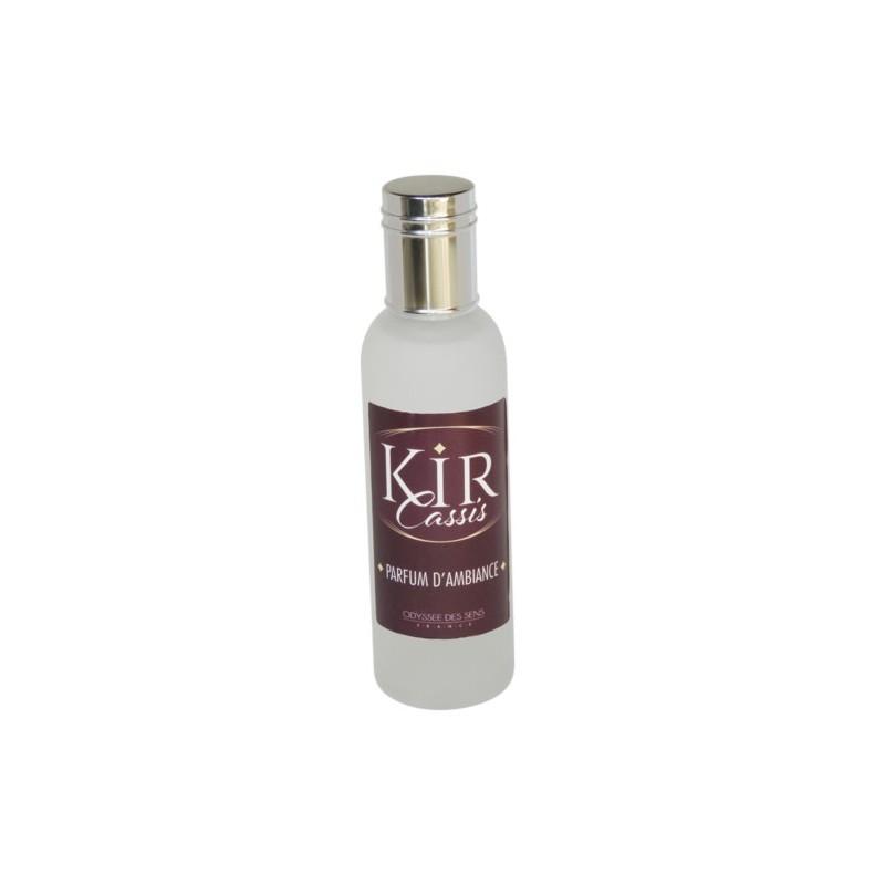 Parfum d'ambiance 100 Ml - Flacon en verre dépoli - Parfum Kir Cassis