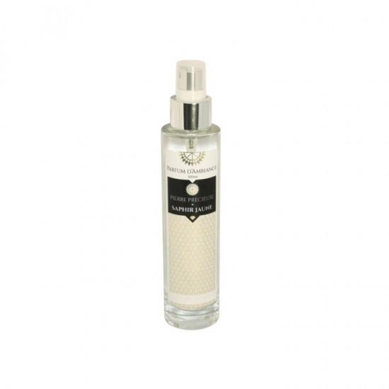 Parfum d'ambiance 100 ml Saphir Jaune collection Pierres précieuses en flacon Verre