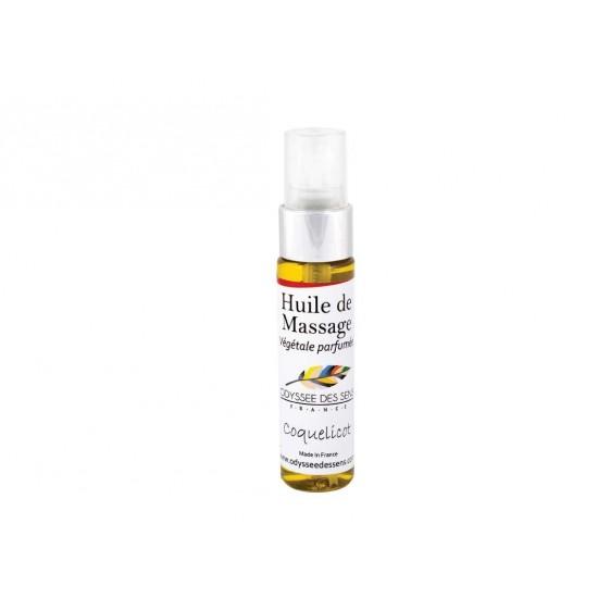 Huile de massage parfumée 30 Ml - Coquelicot
